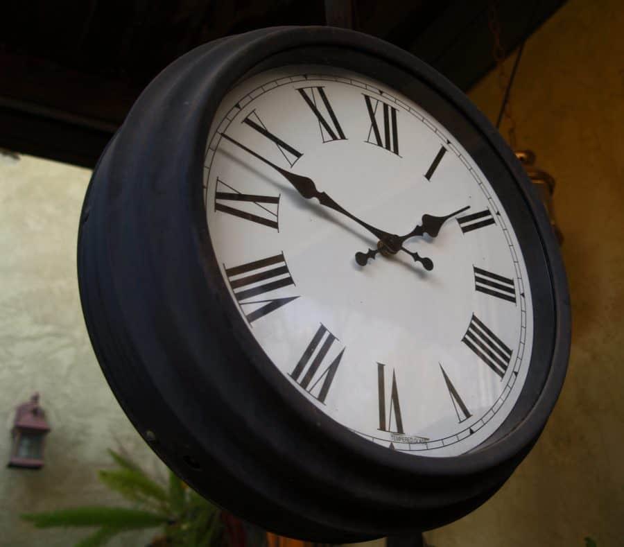 Crime Clock From Below