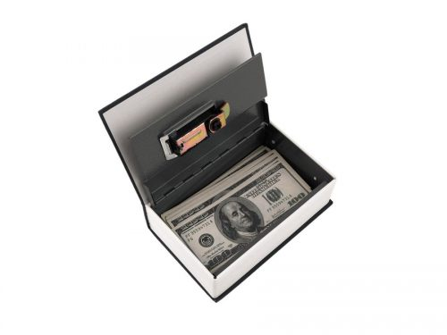Locking Book Diversion Safe Open With Money