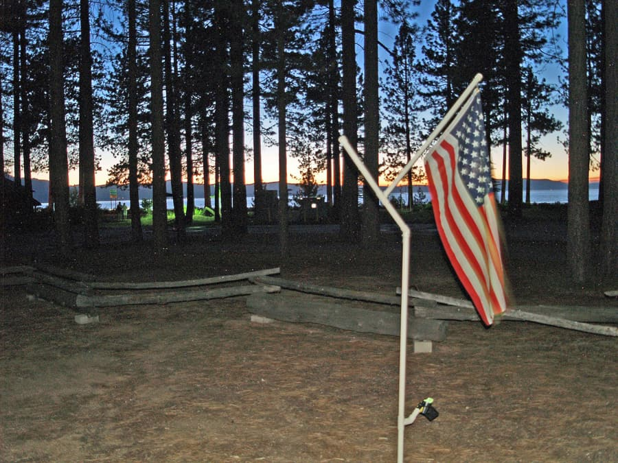 Tahoe and flag July 4th