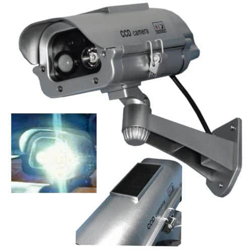Solar Dummy Camera With Bright White Flash