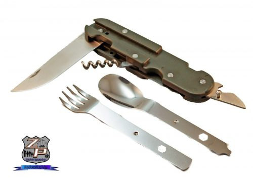 Camping Backpacking Mess Utensil Set Separated And Open
