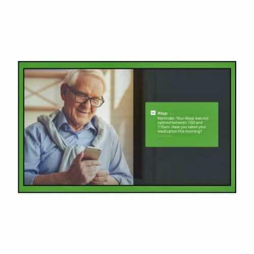 iKeyp-Smart-Medicine-Drug-Privacy-Storage-Safe-Portable-or-Bolt-Installation-Person Graphic