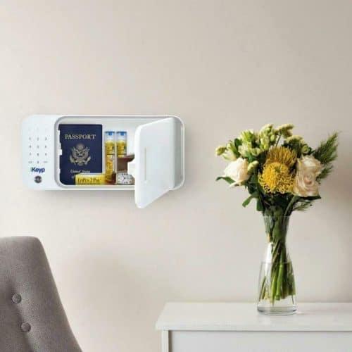 iKeyp-Smart-Medicine-Drug-Privacy-Storage-Safe-Portable-or-Bolt-Installation- Mounted on Wall Open