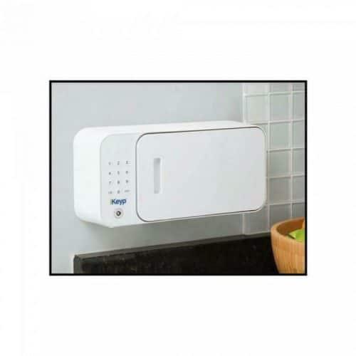 iKeyp-Smart-Medicine-Drug-Privacy-Storage-Safe-Portable-or-Bolt-Installation- Front Side