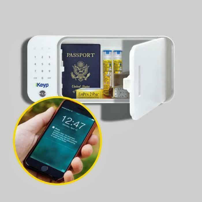 iKeyp-Smart-Medicine-Drug-Privacy-Storage-Safe-Bolt-Installation-Open Showing App Screen