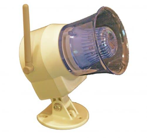 Wireless Out Door Siren Flashing Light Side And Antenna