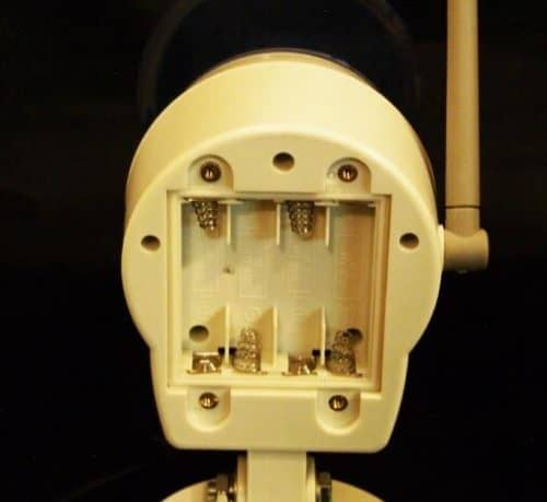 Wireless Out Door Siren Flashing Light Open Battery Compartment