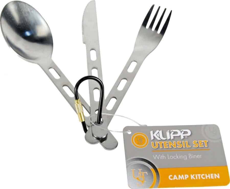 Camping-Backpacking-Mess-Utensil-Set-Showing Clipped Together