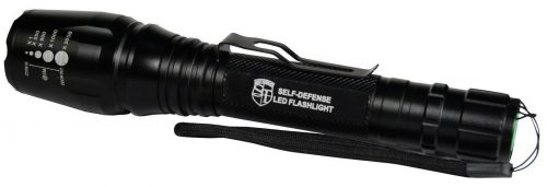 Tactical-Zoomable-Flashlight side and Belt Clip.
